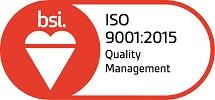 BSI Accreditation Logo ISO 9001:2015