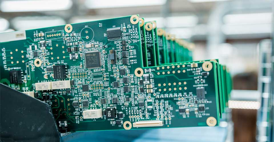 Circuit board with microprocessors